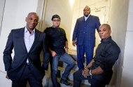 <p>               In this June 11, 2012 photo, gospel singers Donnie McClurkin, from left, Israel Houghton, Marvin Sapp and Kirk Franklin, are photographed backstage before taping a television show in Atlanta. There is a lot riding on the expanding brand of gospel music through the upcoming King's Men concert tour featuring Franklin, Sapp, McClurkin and Houghton. The King's Men concert series will be the first gospel tour backed by Live Nation Inc., the world's largest concert promoter. It's also the first step toward proving that the genre can broaden its fan base and become a lucrative business for the promotional company. (AP Photo/David Goldman)