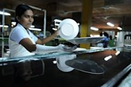 A Sri Lankan crockery worker works on the production line in the town of Dankotuwa on the outskirts of Colombo. Of the top four global economies, the United States, Japan and Germany all made progress in closing their economic gender gap in 2012