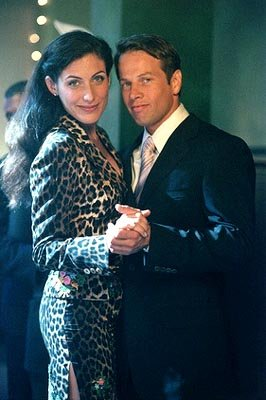 "Lisa Edelstein (L) as Cindy and James LeGros (R) as Mark Albert on the ""Girl's Night Out"" episode of Ally McBeal Ally McBeal"