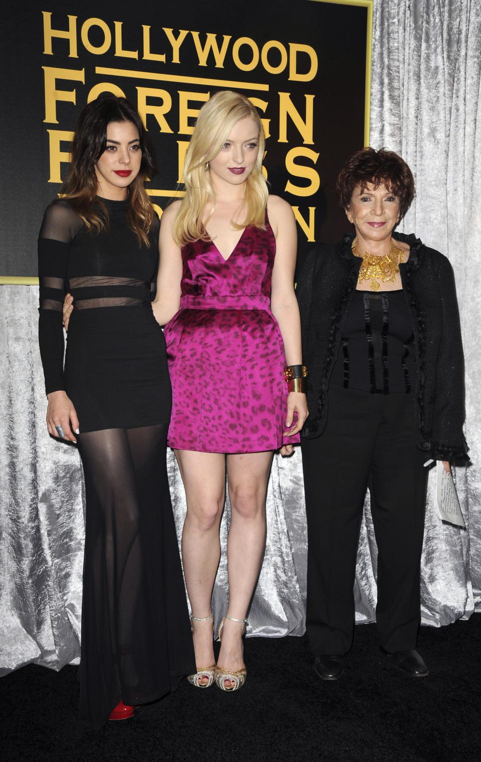 Gia Montegna, from left, Francesca Eastwood, and Dr. Aida Takla-O'Reilly attend HFPA and InStyle's Golden Globe award season celebration at Cecconi's on Thursday, Nov. 29, 2012, in West Hollywood, Calif. (Photo by Katy Winn/Invision/AP)