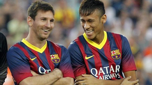 Lionel Messi and Neymar (AFP)