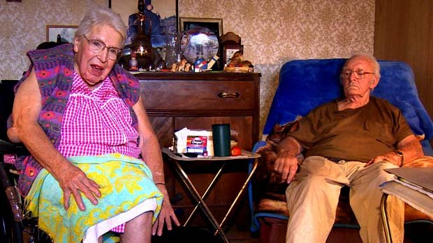 Nellie Graham, 94, and her 85-year-old husband, Reg, are housebound and can't get to the bank.