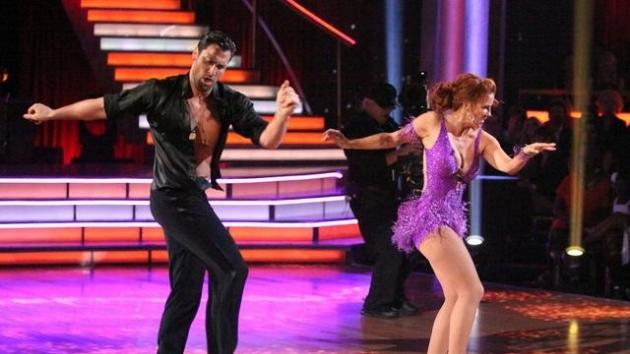 Maksim Chmerkovskiy and Melissa Gilbert perform during Week 3 of 'Dancing with the Stars,' April 2, 2012 -- ABC