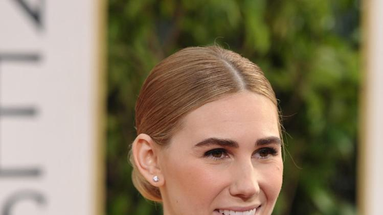 Zosia Mamet arrives at the 70th Annual Golden Globe Awards at the Beverly Hilton Hotel on Sunday Jan. 13, 2013, in Beverly Hills, Calif. (Photo by John Shearer/Invision/AP)
