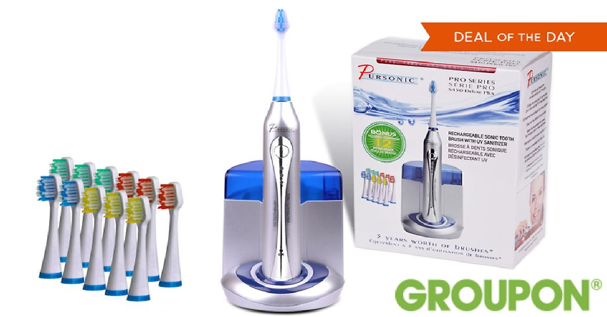 Pursonic Deluxe Sonic Toothbrush for $39.99