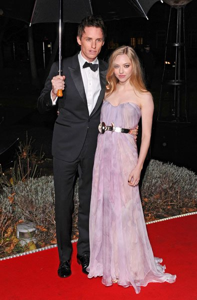 Military Awards red carpet: Eddie Redmayne and Amanda Seyfried © Rex
