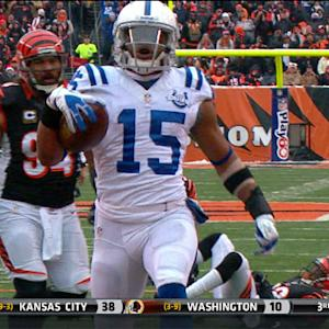 Indianapolis Colts wide receiver LaVon Brazill 19-yard touchdown