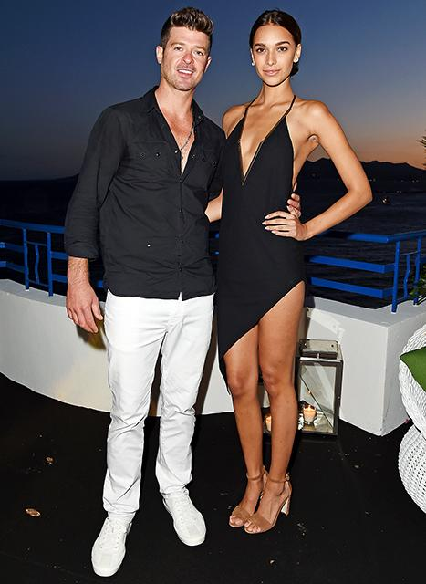 Robin Thicke, Girlfriend April Love Geary Turn Heads at Cannes