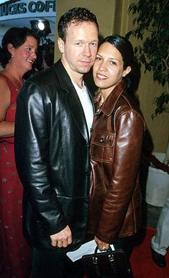 Donnie Wahlberg and his wife at the Mann's Village Theater premiere of Warner Brothers' The Perfect Storm