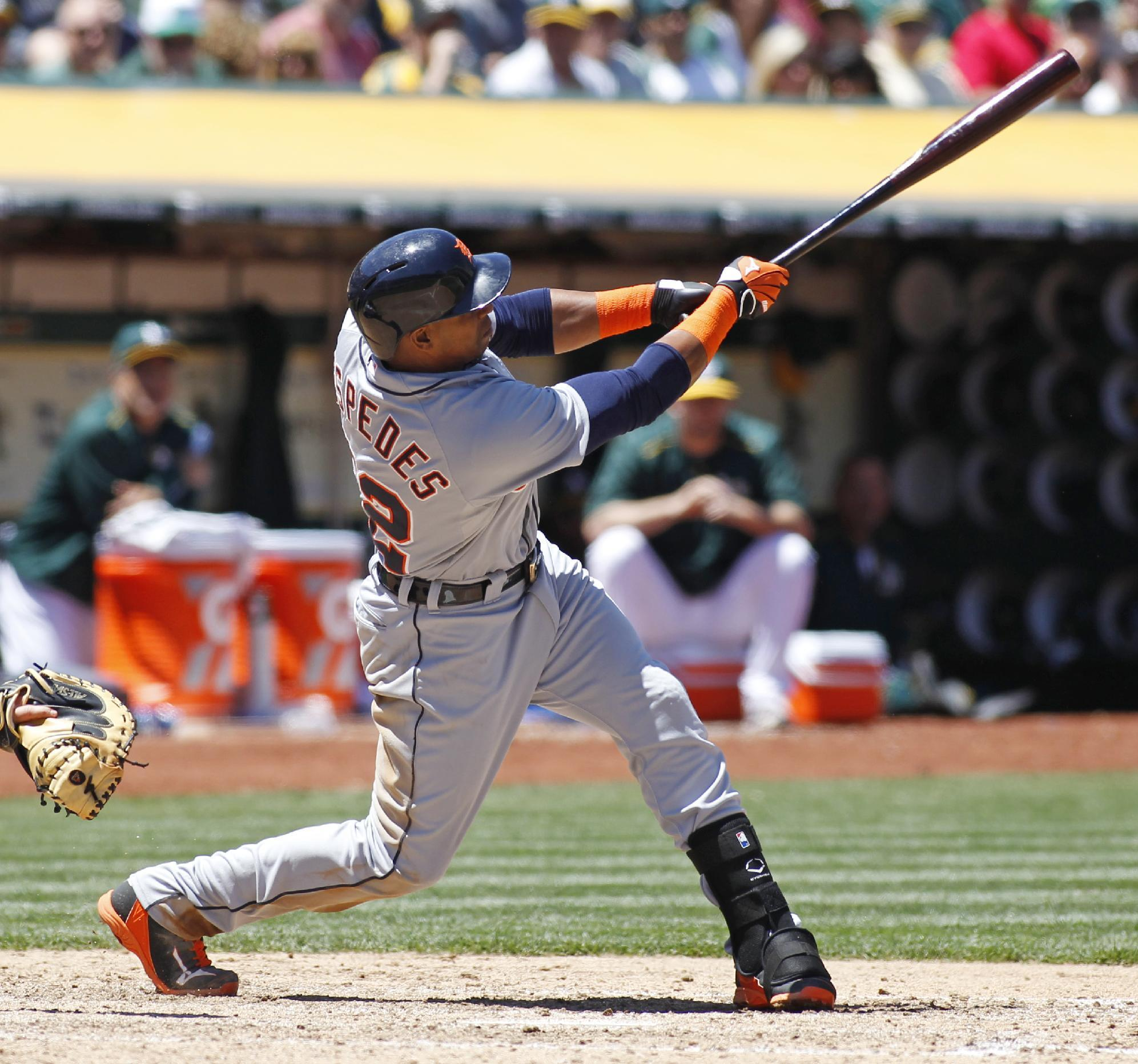 Cespedes homers in Tigers' 3-2 win over Athletics