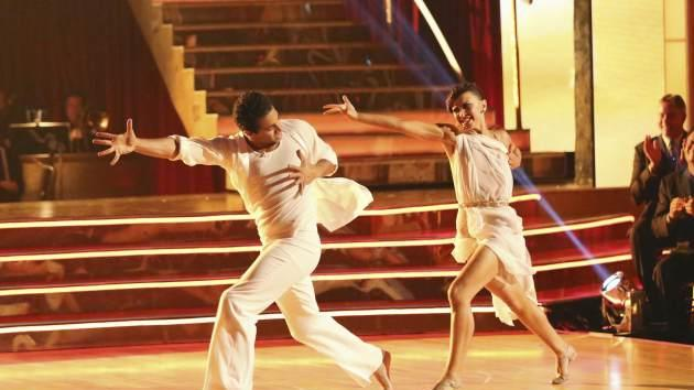 Corbin Bleu and Karina Smirnoff perform on the season premiere of 'Dancing with the Stars' -- ABC
