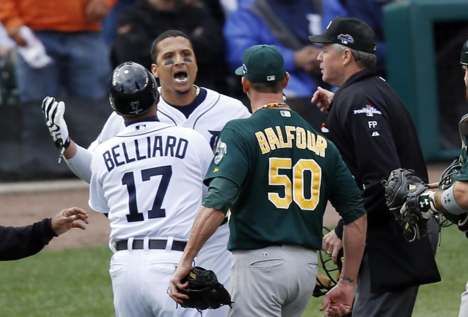 A's top Tigers 6-3 for 2-1 AL division series lead