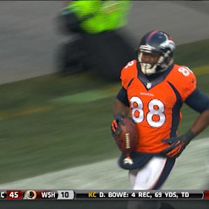 Denver Broncos wide receiver Demaryius Thomas 4-yard TD reception
