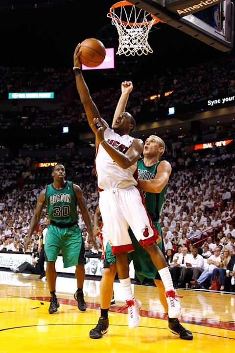 Mario Chalmers #15 Of The Miami Heat Drives Getty Images