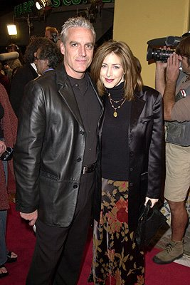 Joely Fisher and hubby at the Westwood premiere of New Line's Thirteen Days