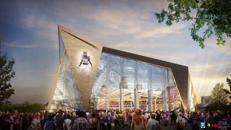 Many already cashing in on Minn. Vikings stadium