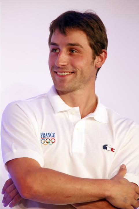 French figure skater Brian Joubert attends a presentation of the French Olympic team in Paris for the 2014 Winter Olympics in Sochi