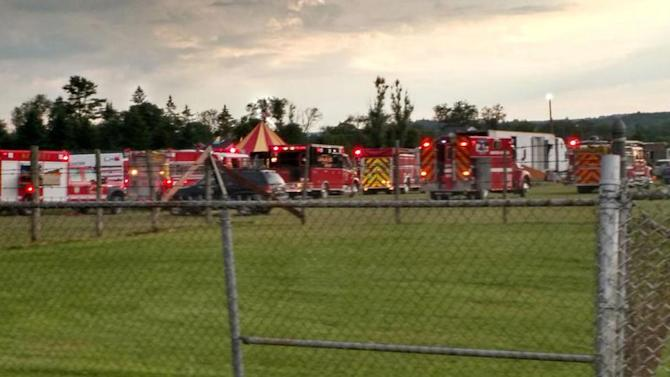 Official: 2 dead, 15 injured after tent collapses during storm at New Hampshire fairgrounds