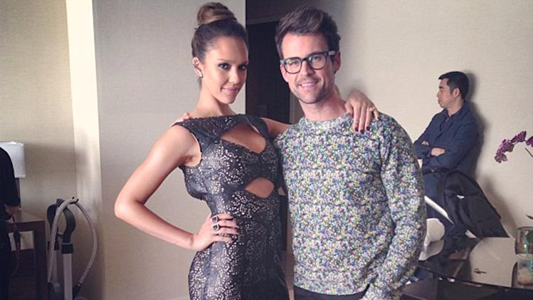 Jessica Alba and Brad Goreski