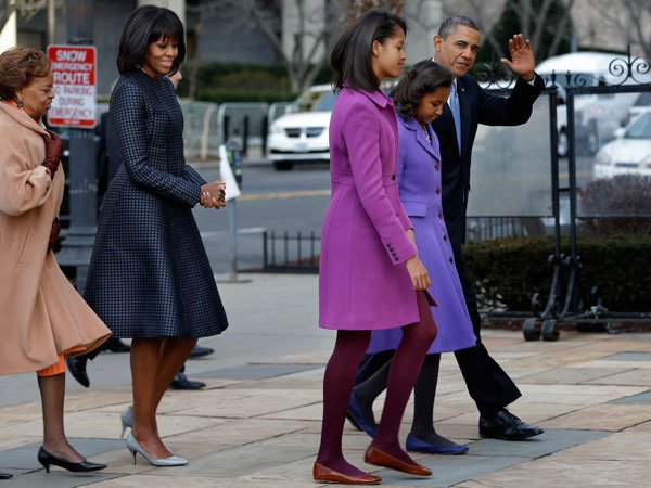 This is the second time Obama has worn Thom Browne, having worn a dress by the label for the third presidential debate in 2012. According to the New York Times, &quot;Thom Browne's coat and dress for Miche