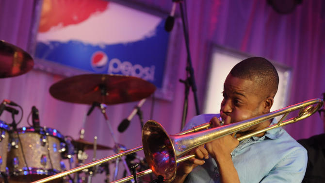 IMAGE DISTRIBUTED FOR PEPSI - Trombone Shorty performs at the Pepsi 5th Quarter in the French Quarter Post Super Bowl Party, on Sunday, Feb. 3, 2013, in New Orleans. (Photo by Jack Dempsey/Invision for Pepsi/AP Images)