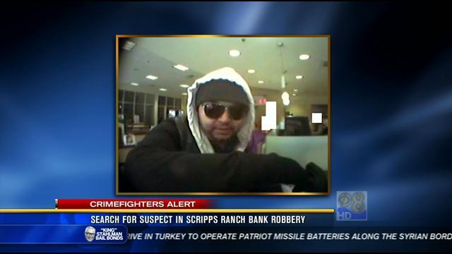 Search for suspect in Scripps Ranch bank robbery