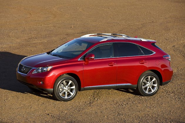 FILE - This file photo provided by Lexus shows the 2010 RX 350. Toyota is adding two Lexus SUVs to its huge recalls for unintended acceleration, The Associated Press reports Friday, June 29, 2012. The National Highway Traffic Safety Administration says it has asked Toyota to recall about 154,000 Lexus RX 450 H and RX 350 SUVs from the 2010 model year. The agency says gas pedals can become trapped by floor mats, causing the SUVs to accelerate unexpectedly. (AP Photo/Lexus, David Dewhurst, File)