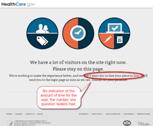 Top 7 HealthCare.gov UX Failures image Healthcare.gov WaitingPage 2 400