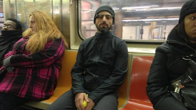 Was That Sergey Brin Wearing Google Glasses in the New York Subway? (ABC News)