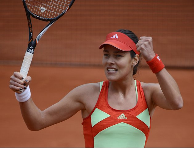 Serbia's Ana Ivanovic Reacts AFP/Getty Images