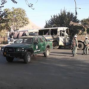 Raw: Bombers Attack 2 Afghan Army Buses