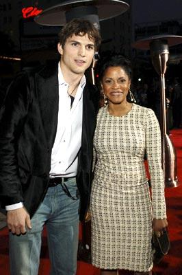 Premiere: Ashton Kutcher and Judith Scott at the Hollywood premiere of Columbia Pictures' Guess Who - 3/13/2005