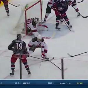 Nick Foligno redirects the late winner