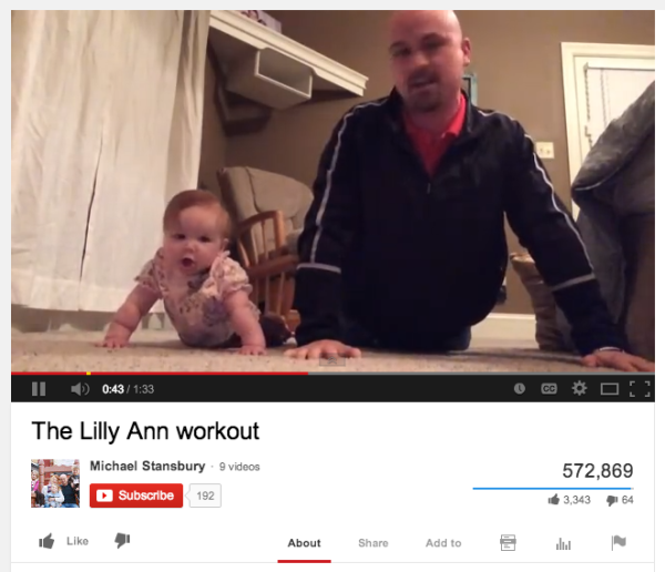 Trending News Viral Added A New Photo: Father-Daughter Workout Video Goes Viral