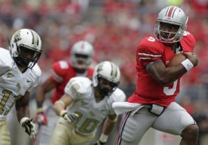 Miller runs for 3 TDs in No. 14 OSU's 31-16 win