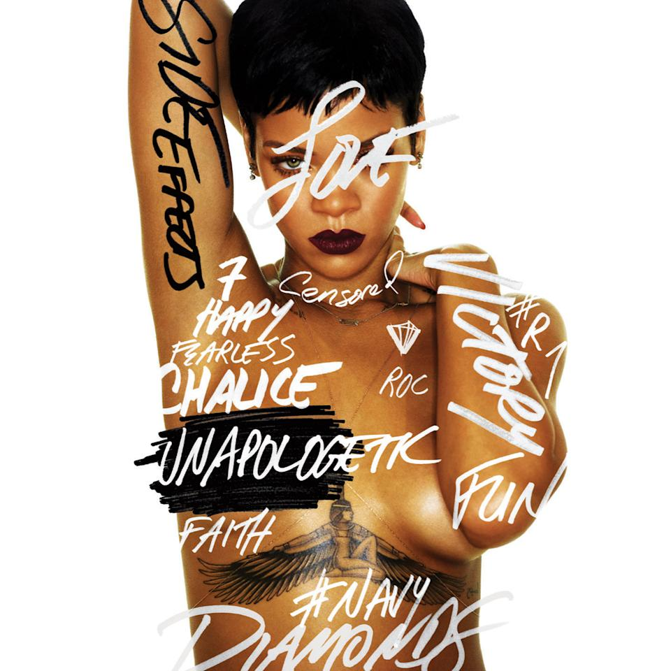 "This CD cover image shows the latest release by Rihanna, ""Unapologetic."" (AP Photo/Island Def Jam Music Group)"