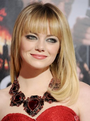 Emma Stone arrives at the Los Angeles Premiere 'Gangster Squad' at Grauman's Chinese Theatre on January 7, 2013 in Hollywood -- FilmMagic