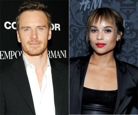 Zoe Kravitz and Ex-Boyfriend Michael Fassbender Reunite, Seem Friendly at NYC Event