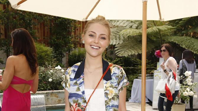 IMAGE DISTRIBUTED FOR CHROME GIRL - AnnaSophia Robb attends the Polish Play and emPower Chrome Girl Nail Lacquer Debut on Saturday, April 27, 2013 in Los Angeles.(Photo by Todd Williamson/Invision for Chrome Girl/AP)