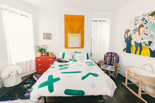 Clickage: Hedi Slimane's New Muse; a Rug Designer's Colorful Home