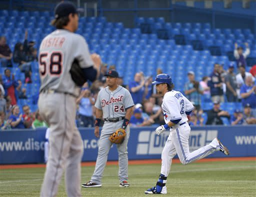 Hunter's decisive RBI lifts Tigers over Blue Jays