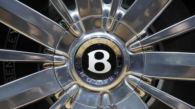 The hubcap of a Bentley Mulsanne