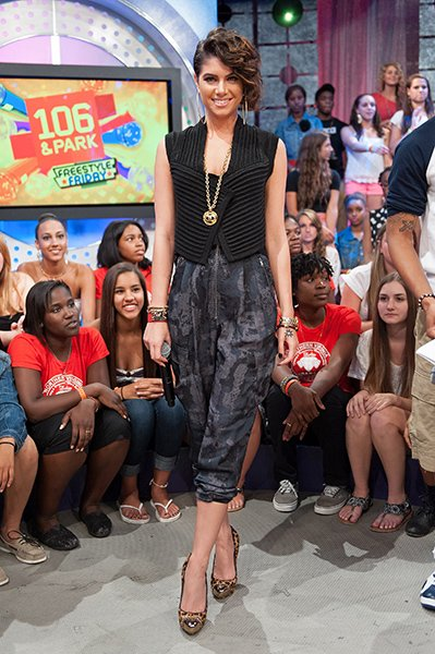 On the set of 106 & Park