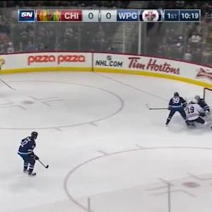 Ondrej Pavelec Save on Kris Versteeg (09:41/1st)