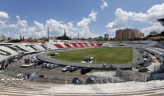 A general view of Ponte Preta soccer club's Moises Lucarelli stadium, where Portugal's national soccer team will be training during the 2014 World Cup, in Campinas