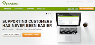 Zendesk Review – Support and Engage Your Customers image 01 ZD Landing Page