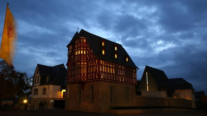 Tebartz-van Elst's residence and his private chapel are pictured in Limburg
