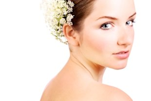 Bride wearing bridal makeup
