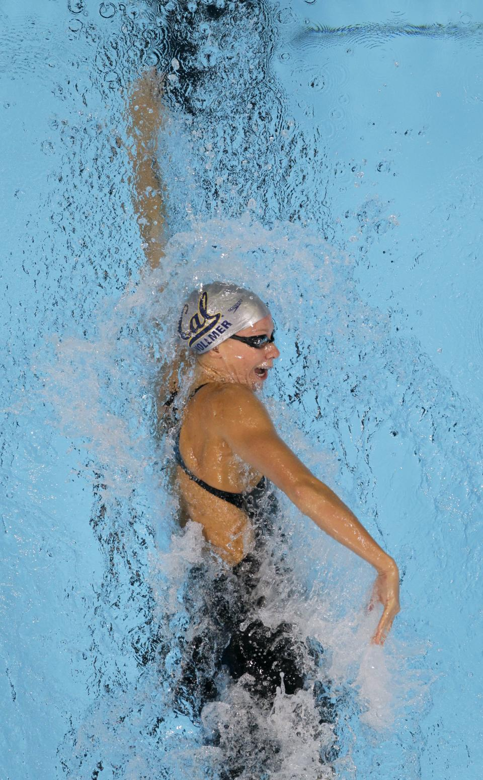 Dana Vollmer swims in the women's 200-meter freestyle preliminaries at the U.S. Olympic swimming trials, Wednesday, June 27, 2012, in Omaha, Neb. (AP Photo/Nati Harnik)