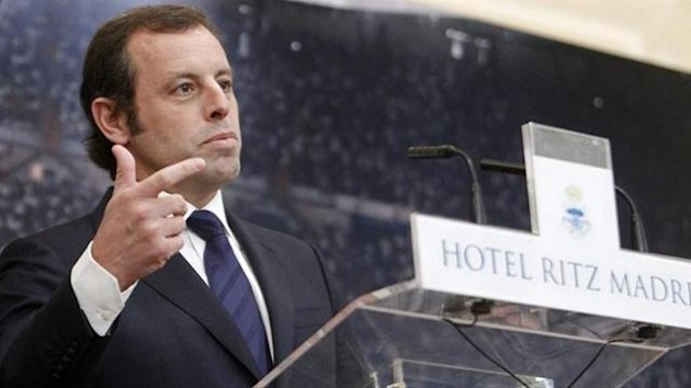 Sandro Rosell presidente del Barcelona